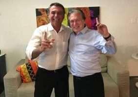 O presidente Jair Bolsonaro e o presidente nacional do PSL, deputado Luciano Bivar vão se reunir no próximo dia 1º, em Brasília. Foto - PSL/Divulgação
