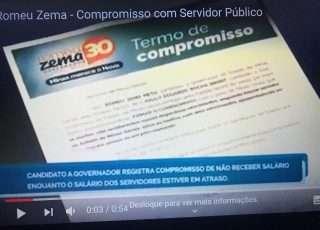 Candidato Romeu Zema assumiu em cartório compromisso de só receber salário quando vencimento do servidor estivesse em dia.