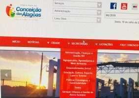 Portal da Prefeitura de Conceição das Alagoas - Foto: Imagem do Portal