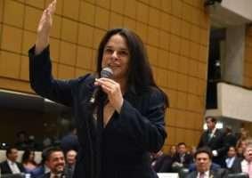 Deputada Janaína Paschoal (PSL-SP) entrou com pedido de impeachment do presidente do STF, Dias Toffoli, no Senado. Foto - ALSP/Divulgação