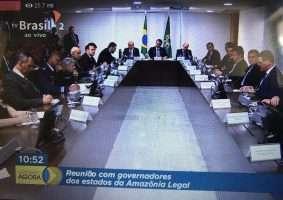 Reunião de governadores da Amazônia Legal com o presidente Jair Bolsonaro