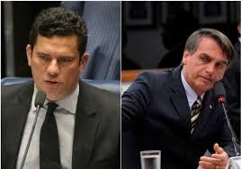 Sérgio Moro (esq.) não descartaria possibilidade de deixa o ministério da Justiça se não se entender com o presidente Bolsonaro. Fotos - Agência Brasil