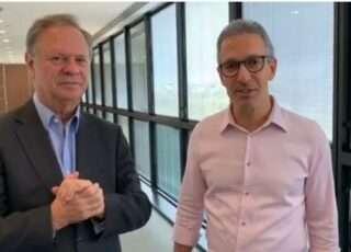 O governador Romeu Zema (NOVO) e o presidente da Cemig, Cledorvino Belini (dir). Foto - Agência Minas