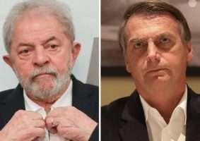 Pesquisa da consultoria Atlas Político mostra que, se as eleições presidenciais fossem hoje, haveria empate técnico entre Bolsonaro e Lula. Sérgio Lima/PODER 360