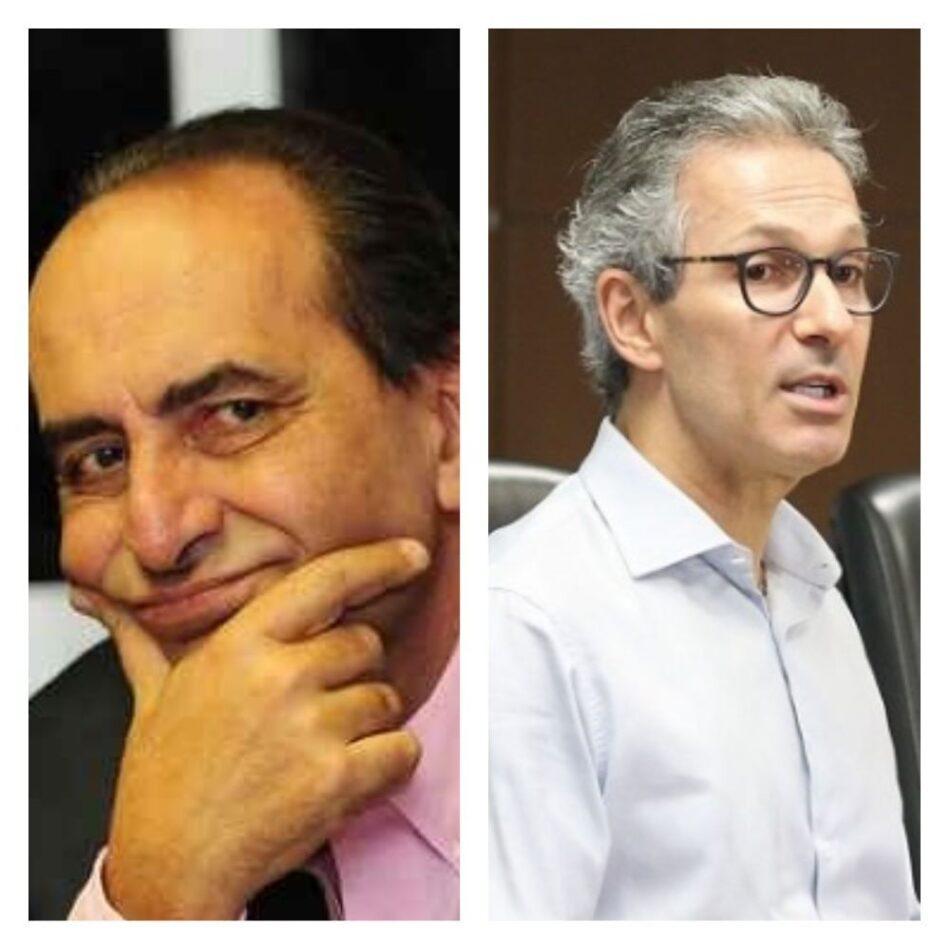 O prefeito Alexandre Kalil (dir) e o governador Romeu Zema usam pandemia do coronavírus como discurso político para 2022