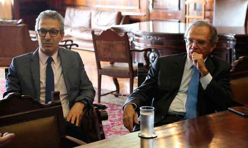 Governador Zema conversou recentemente com o ministro Paulo Guedes sobre situação financeira de Minas. Foto - Ministério da Economia