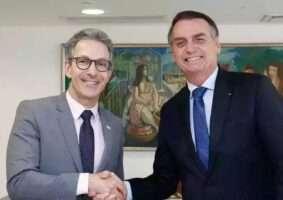 Governador Zema durante com o presidente Jair Bolsonaro, em Brasília - Foto-PR