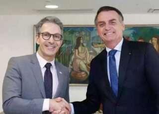 Governador Zema espera ajuda do presidente Bolsonaro para tirar Minas do buraco financeiro. Foto-PR