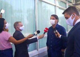 O presidente Jair Bolsonaro ao anunciar que foi infectado pelo novo coronavírus. Foto - redes sociais - reprodução