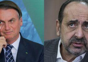 Presidente Jair Bolsonaro (esq.) e prefeito de Belo Horizonte, Alexandre Kalil