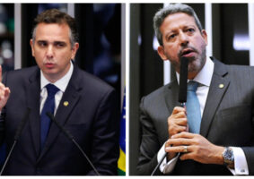 Senador Rodrigo Pacheco (esq.) é o novo presidente do Senado; Deputado Arthur Lira vai presidir a Câmara. Fotos - Agência Senado e Agência Câmara