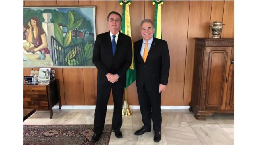 Presidente Bolsonaro e o novo ministro da Saúde, Marcelo Queiroga. Foto - divulgação - PR